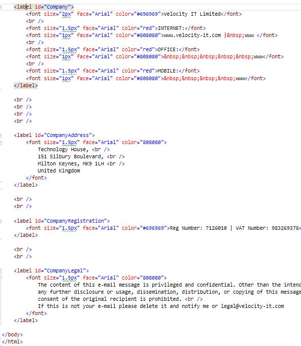 4 - Define HTML Template