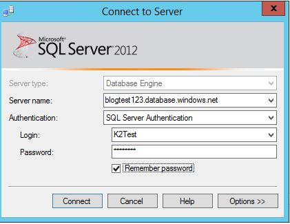 5 - Connect to Azure SQL Database
