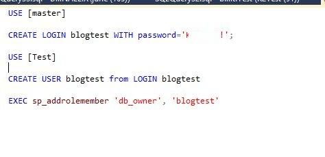 9 - Create Database login name