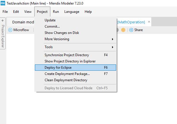 Custom Java in Mendix - Step 6