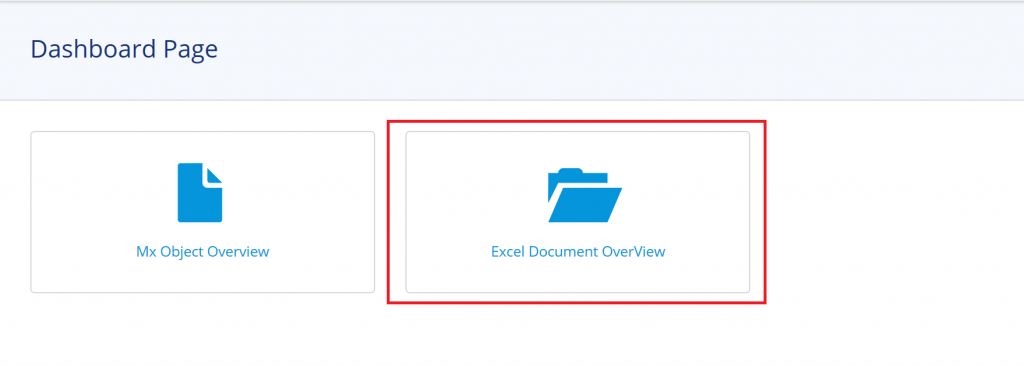 Excel document Overview