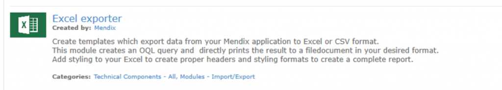 Excel Exporter