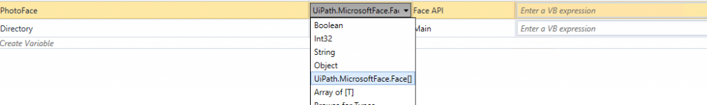 UiPath Collection (array)