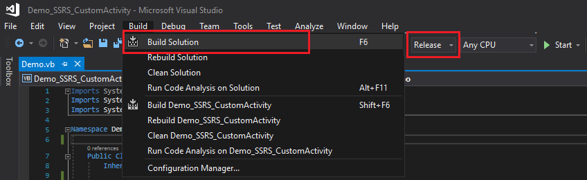 05 - Build Project - UIPath Custom Activity to Generate a SSRS Report