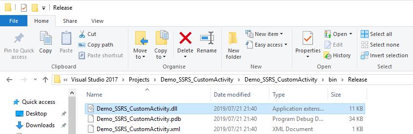 06 - DLL CreatedUIPath Custom Activity – Generate SSRS Report