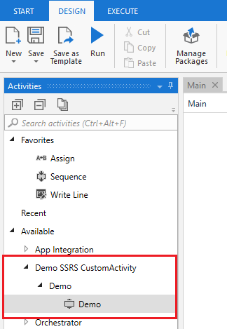 17 - Custom Activity - UIPath Custom Activity – Generate SSRS Report